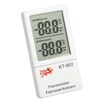 Aquarium indoor double liquid crystal display thermometer KT902 induction electronic double thermometer