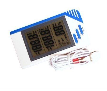 di buona qualità Registi il termometro di Digital LCD all'aperto dell'interno dell'allarme per l'igrometro della cucina le vendite