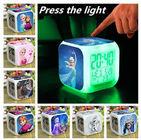 I colori congelati della sveglia il LED 7 cambiano i giocattoli d'ardore variopinti di notte del termometro congelati sveglia di Digital Anna Elsa