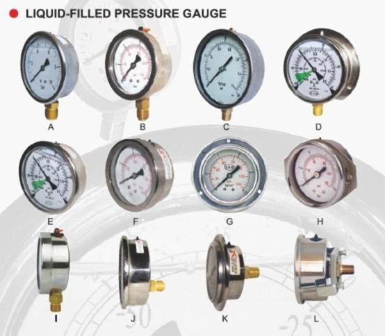 Adjustable Pointer Back Connection Manometer Pressure Gauge