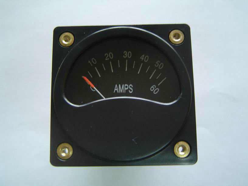"2 1/4"" digital Aircraft Gauge square shunt ammeter of Voltmeters And Ammeters A2-06"