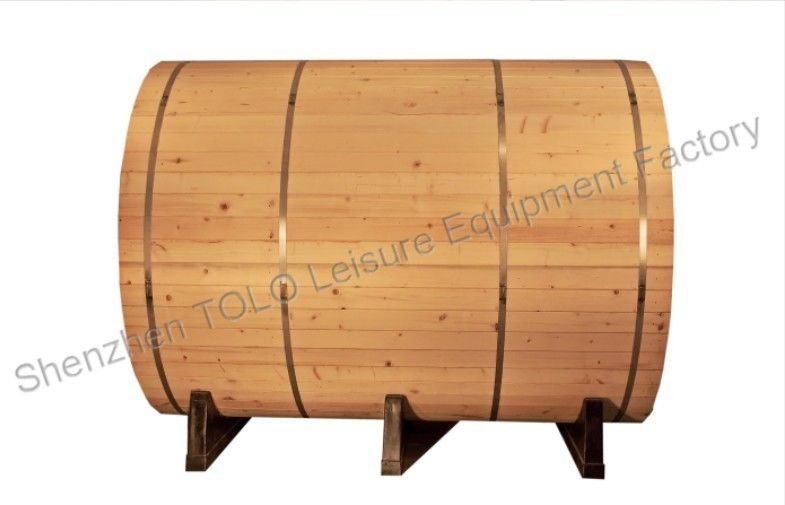 Outdoor garden sauna cabins , electric wood 4 person barrel sauna room
