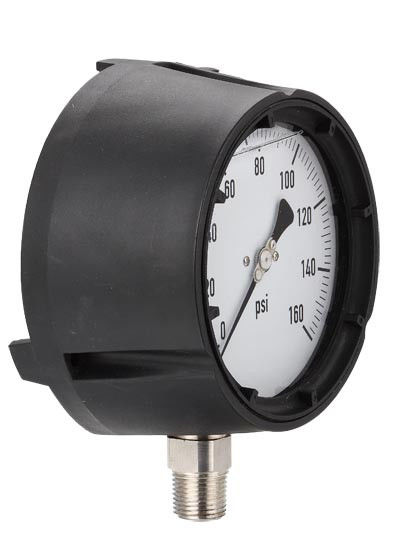 Dry Fillable Process Manometer Pressure Gauge With Adjustable Pointer